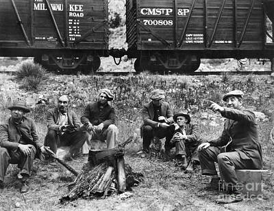 Group Of Hoboes, 1920s Print by Granger
