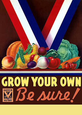 Food Stores Painting - Grow Your Own Victory Garden by War Is Hell Store