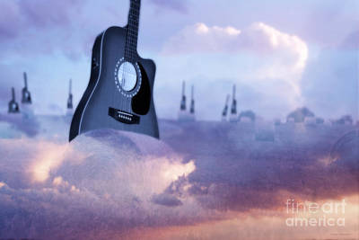 Acoustic Guitar Digital Art - Growing A Country Song by Cathy  Beharriell