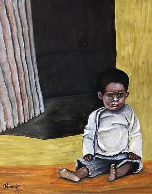 Growing Up In Poverty Print by Edwin Alverio