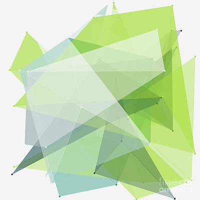 Abstract Digital Art - Growth Polygon Pattern by Frank Ramspott