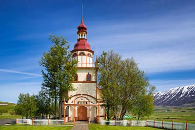 Church Photograph - Grundarkirkja Church North Iceland Europe by Matthias Hauser