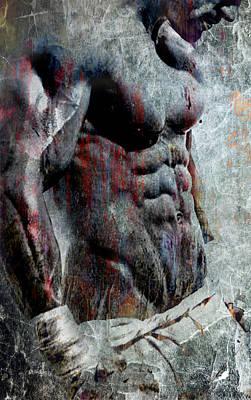 Grungy Hulk Print by Greg Sharpe