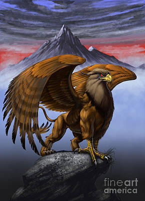 Gryphon Print by Stanley Morrison