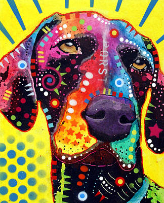 Stencil Painting - Gsp German Shorthair Pointer by Dean Russo