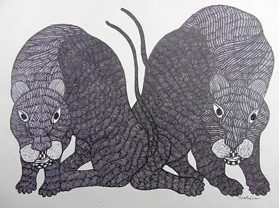 Gond Art Painting - Gst 56 by Gareeba Singh Tekam