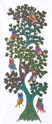 Gond Painting - Gst 93 by Gareeba Singh Tekam