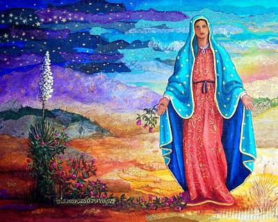 Virgen De Guadalupe Mixed Media - Guadalupe De La Frontera by Candy Mayer