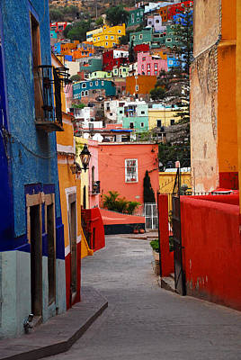 Mexico Photograph - Guanajuato Lane by Skip Hunt