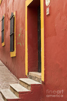 Staircase Photograph - Guanajuato Mexico Colorful Building by Juli Scalzi
