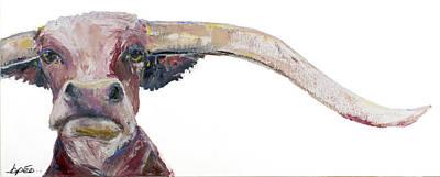 Steer Painting - Guapo by Brenda Peo