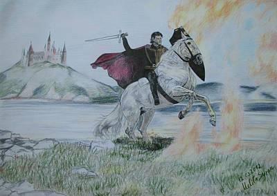 Guardian Of The Castle Print by Melita Safran