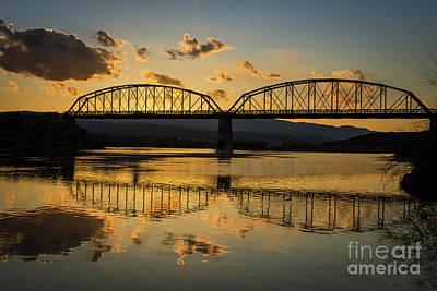 Guffey Bridge At Sunset Idaho Journey Landscape Photography By Kaylyn Franks Print by Kaylyn Franks