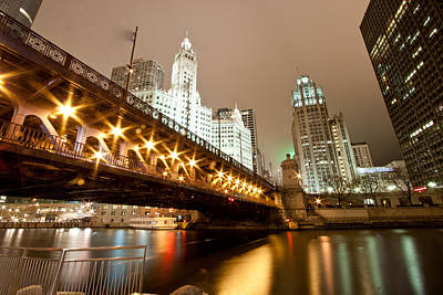 Chicago River Photograph - Guide Me Across The River by Daniel Chen