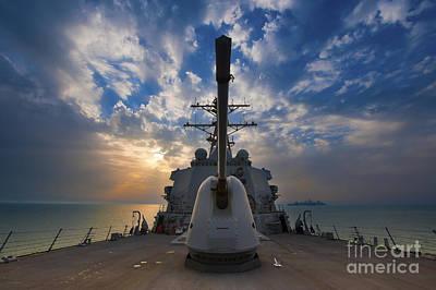 Guided-missile Destroyer Uss Higgins Print by Stocktrek Images