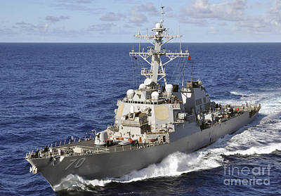 Photograph - Guided-missile Destroyer Uss Hopper by Stocktrek Images