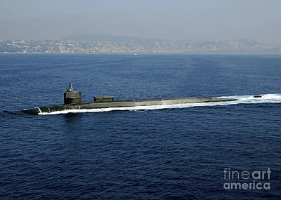 Photograph - Guided-missile Submarine Uss Georgia by Stocktrek Images
