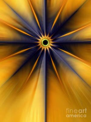 Artistic Digital Art - Guiding Star by John Edwards