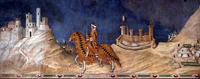 Simone Martini Painting - Guidoriccio Da Fogliano by Simone Martini