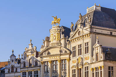 Guild Houses At The Grand Place Print by Werner Dieterich