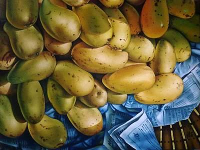 Mango Drawing - Guimaras by Nante Carandang