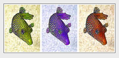 Guinea Fowl Puffer Fish Triptych Print by Bill Caldwell -        ABeautifulSky Photography