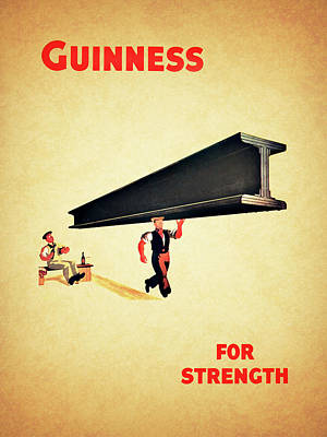 Guiness For Strength Print by Mark Rogan