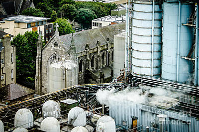 Factory Photograph - Guinness Brewery And St James Church In Dublin by RicardMN Photography