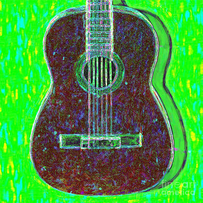 Wingsdomain Digital Art - Guitar - 20130123v4 by Wingsdomain Art and Photography