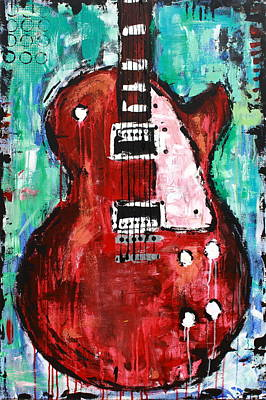 Abstract Painting - Guitar 6 by Kayla Mallen