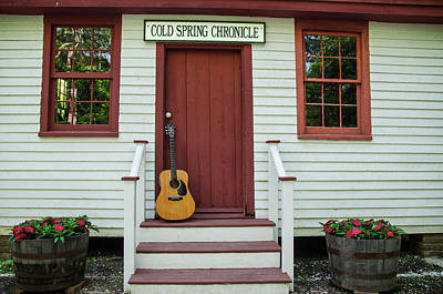 Jersey Photograph - Guitar At Cold Spring Chronicle by Bill Cannon