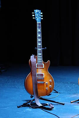 Guitar Blue Print by Lauri Novak