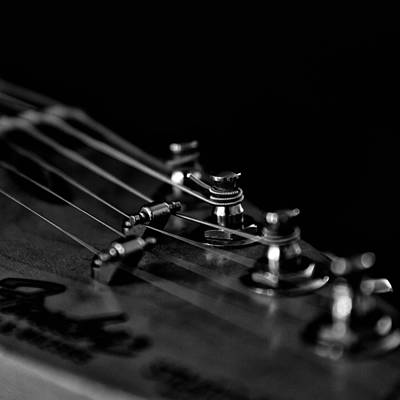 Old Objects Photograph - Guitar Close Up 1 by Stelios Kleanthous