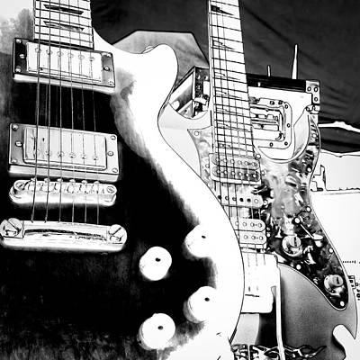 Music Digital Art - Guitar Duo by David Patterson