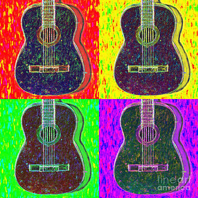 Wingsdomain Digital Art - Guitar Four 20130123v1 by Wingsdomain Art and Photography