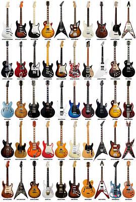 Guitar Legends Print by Taylan Soyturk