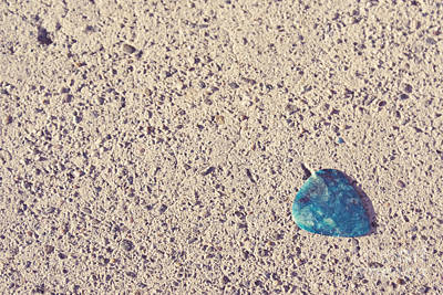 Punk Rock Music Photograph - Guitar Pick On Sidewalk by Cindy Garber Iverson