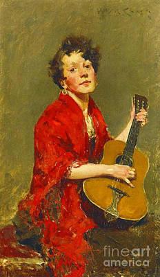 Guitar Player 1886 Print by Padre Art
