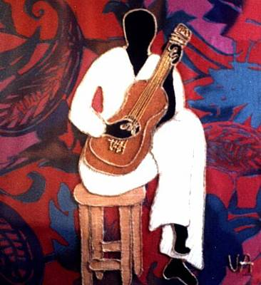 Painting - Guitar Player by Valerie X Armstrong