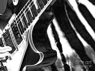 Guitar Zebra Print by Roxy Riou