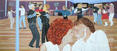 Artist Christine Belt Painting - Guitars And Cadillacs Omaha by Christine Belt