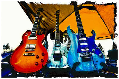 Guitars At Intermission Print by David Patterson