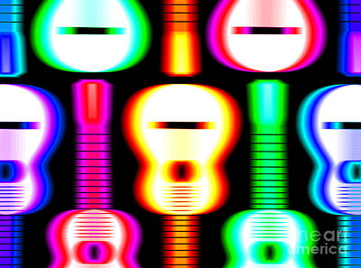 Rhythm And Blues Drawing - Guitars On Fire 4 by Andy Smy