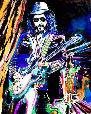 Heartbreaker Painting - Guitarslinger by John Leclerc