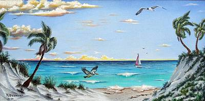 Painting - Gulf Beach Pathway by Riley Geddings