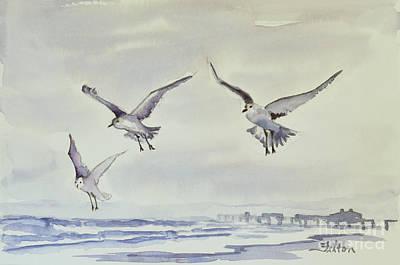 Painting - Gulls In The Fog by Julianne Felton