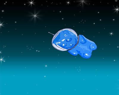 Other Worlds Digital Art - Gummy Bear In Space by Jera Sky