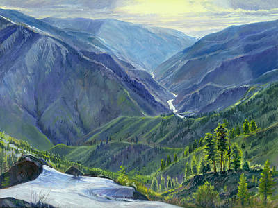 Salmon River Idaho Painting - Gun Barrel Creek by Steve Spencer
