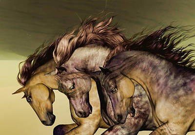 Horse Painting - Gunmetal by Valerie Anne Kelly