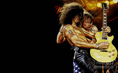Guns N' Roses Collecton Print by Marvin Blaine